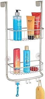 mDesign rangement de douche suspendu à la porte de la douche – étagère de douche pratique – montage sans perçage – accesso...
