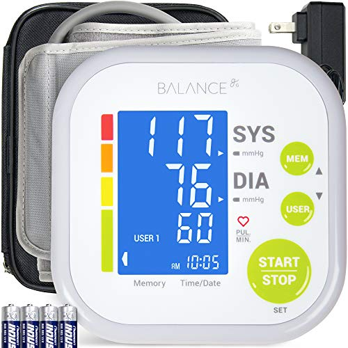 Greater Goods Blood Pressure Monitor Cuff Kit by Balance, Digital BP Meter with Large Display, Upper Arm Cuff, Set Also Comes with Tubing and Device...