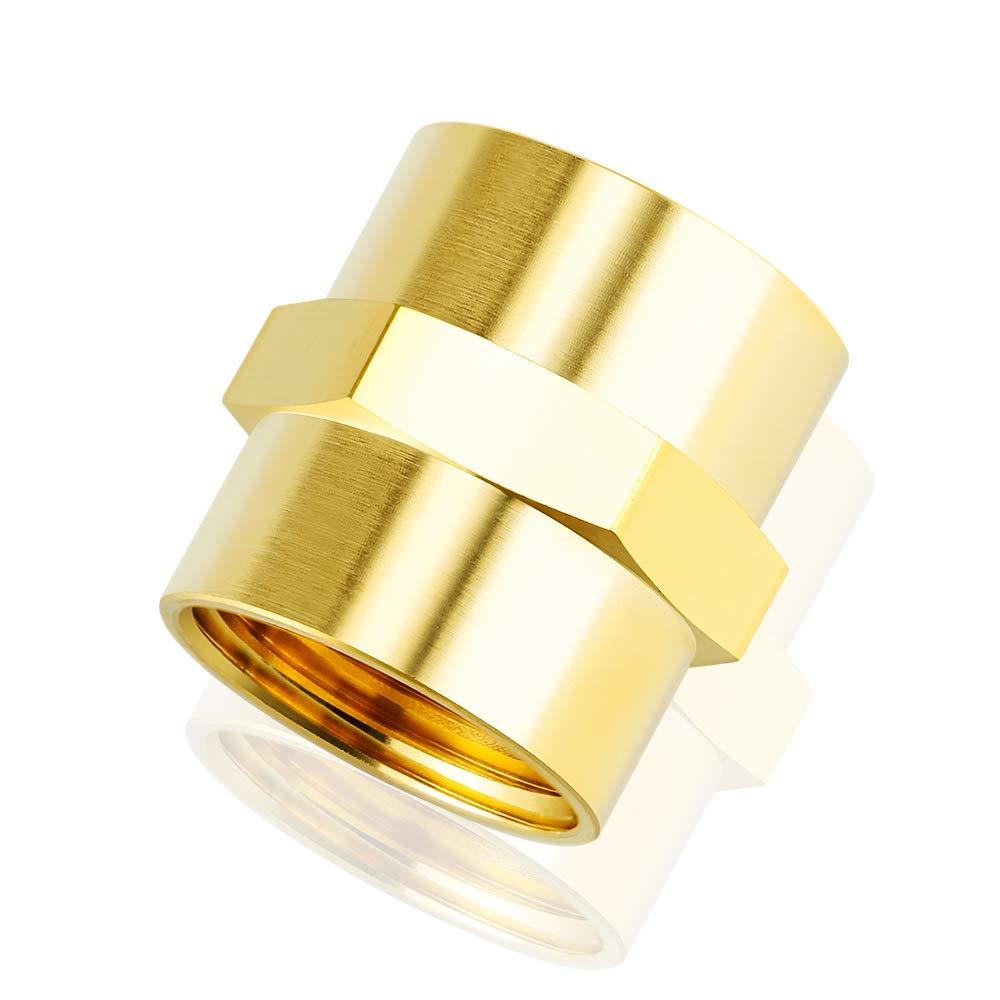 Tailonz Pneumatic 1//8 Inch NPT Female Pipe Hex Nipple Brass Pipe Fitting(10Pcs)