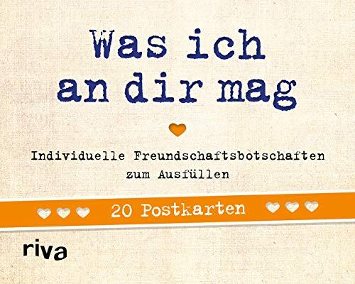 Was ich an dir mag – 20 Postkarten: Individuelle Freundschaftsbotschaften zum Ausfüllen