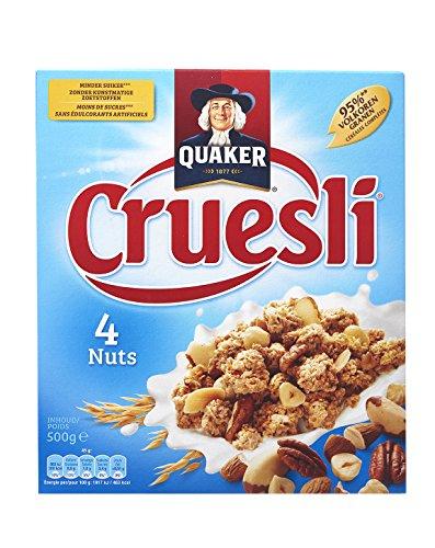 Muesli con nueces | Quaker | Cruesli 4 nueces | Peso total 500 gramos