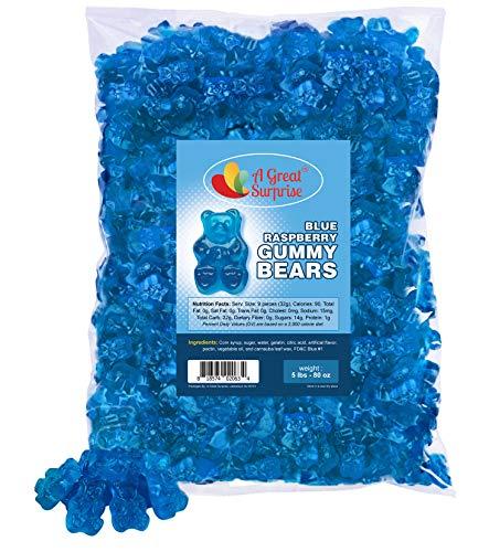 Gummy Bears - Blue Candy - Bulk Candy – Gummy Bears Blue Raspberry – Blue Gummi Bears – Bulk Candy Gummies 5 LB