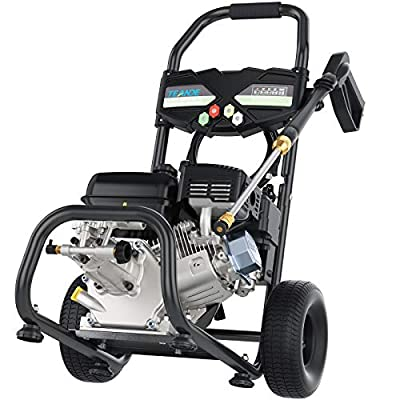 TEANDE 4200PSI 2.8GPM Gas Pressure Washer, 7.0HP 212CC Power Washer, 5 Adjustable Nozzles,1Gallon Flue Tank (Black)