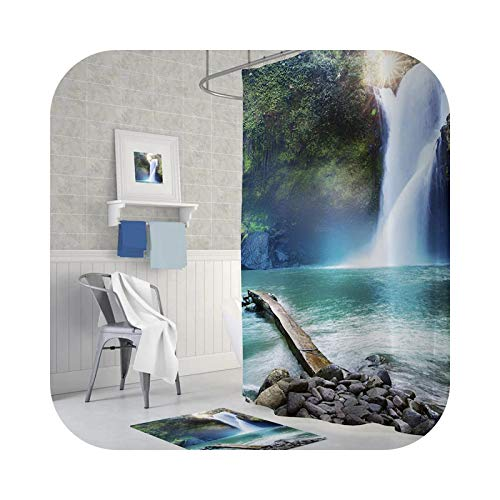 Hylshan Zethome Tropik 16455621 - Cortina de ducha para baño (1 x 180 x 200)