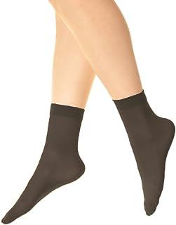53d6892b6 Angelina Nylon Ankle Hosiery 40D Sheer (6-Pairs)