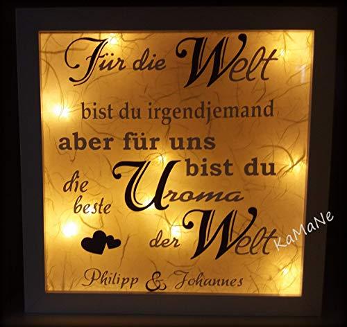 beleuchteter Bilderrahmen 3D Leuchtrahmen LED Geschenk zu Weihnachten Weihnachtsgeschenk Geburstagsgeschenk Geschenkidee beste Oma/Opa/Uroma/Uropa etc. Kinderzimmerlampe Kinder/Baby Nachtlicht
