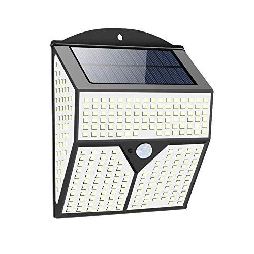 Solarlampen für Außen, 436LED Außenwandleuchten mit Bewegungsmelder Solar Sicherheitswandleuchte 3 Modi IP65 Wasserdichte Wandleuchte, Gartenleuchten Solarleuchten für Garten, Hof, Garage