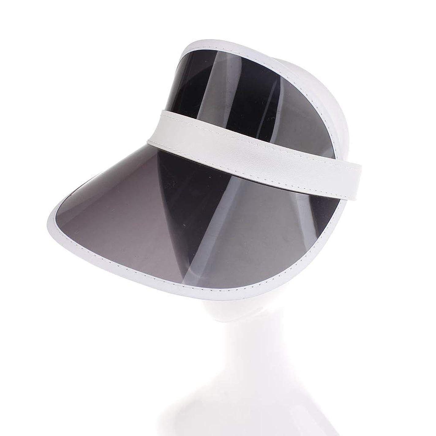 DC UVカット帽子 UVカットハット 日焼け止めキャップ 折り畳み式 バイザー ヘッドギア 紫外線を防ぐ(ブラック)