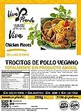 Trocitos Cordero Vegano, 250g Viva Planta | Vegan | Sin carne | 100% Vegetal | Plant Based | Sin Gluten (Pack de 1)