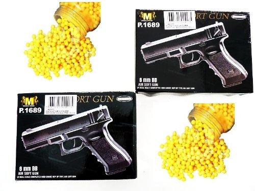 N&B Power Softair Set 2 Sport Pistolen + 1000 Kugeln G-Style
