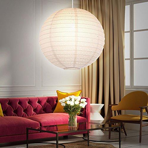 Pendel Leuchte Gästezimmer Kugel Papier Lampenschirm Decken Lampe Stanzung weiß