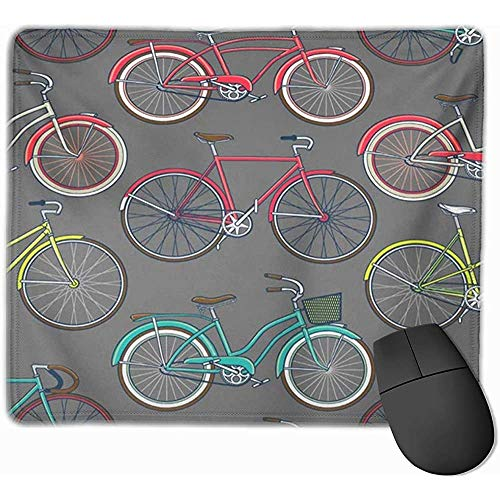 Gaming Mouse Pad, Mouse Mat Abstract Retro Pop and Vintage Bicycle Bike Cartoon Catálogo Colección Comic Cute