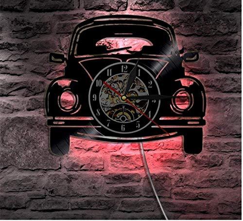 Vinyl wandklok 1 stuk 12 auto ontwerp Vintage auto auto licht moderne decoratie cadeau voor minnaar 12 inch vinyl wandklok