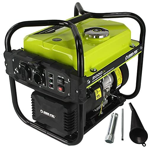 Generatore di Corrente 2KW ad Inverter Potenza 2000W Silenziato Gruppo Elettrogeno a Benzina 119 cc
