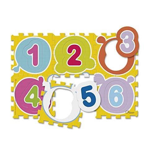 Chicco- Numeri Tappeto Puzzle, Multicolore