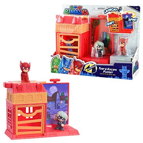 PJ Masks Nighttime Micros Trap & Escape Playset, Owlette vs. Luna Girl