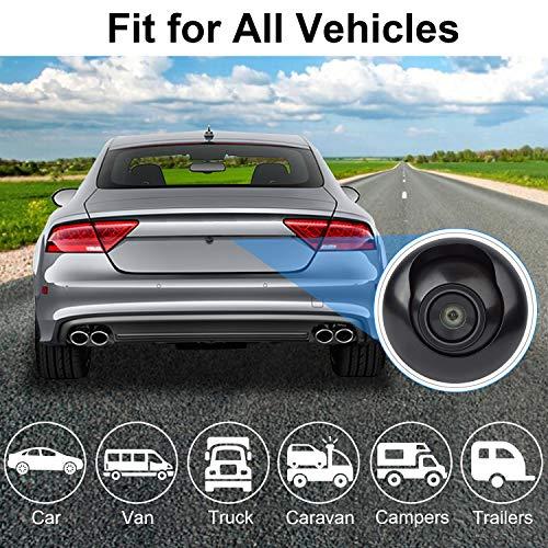 CICMOD Mini Rückfahrkamera Auto HD Universal Rückansicht Kamera 360° Drehbarer Einparkhilfe Nachtsicht Wasserdicht Weitwinkel