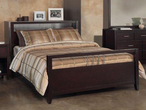 Modus Furniture Nevis Platform Storage Bed, California King, Espresso