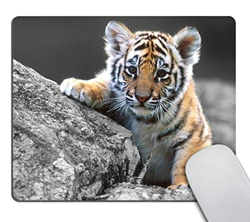 Smooffly Gaming Mouse Pad Custom,Cute Tiger Design Customized Rectangle Non-Slip Rubber Mousepad Gaming Mouse Pad 9.5 X 7.9 Inch (240mmX200mmX3mm)