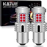 KATUR 1156 BA15S P21W 7506 Bombillas LED Superbrillantes 12pcs 3030 y 8pcs 3020 Chips Canbus Error Señal de Giro Libre Freno Trasero Cola de estacionamiento Luces,Rojo Brillante(Paquete de 2)