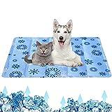 Kühlmatte Hund, Kühldecke Hund Hühlmatte Katze Kaninchen Haustiere, Kühl Hundebett Kühlkissen Cooling Mat mit Ungiftiges Gel, Selbstkühlende Kissen, Kaltgelpad für Große Hunde & Kleine Hunde Katzen