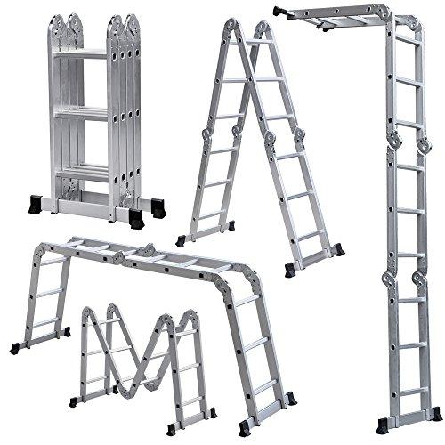 Light Weight Multi-Purpose 12' Aluminum Ladder - 300 LB Capacity by Rrt