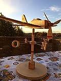 Segnavento, aereo in legno, idea regalo, modellino aereo, aeromodello...