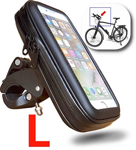 WESTIC FT-18L Lenkertasche Fahrrad Wasserdicht Handyhalterung Fahrradtasche Handyhalter Handytasche Fahrradlenkertasche Rahmentasche mit Kabelfürung für Smartphone unter 6,1 Zoll