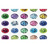 cap hat Diamond Decor Set of Round Oval Gems Diamonds Emerald Supreme Sublime Worth World Design Girls Decor Multi PVC Door Mat 40x60cm Non-Slip Stain Fade Resistant Carpet