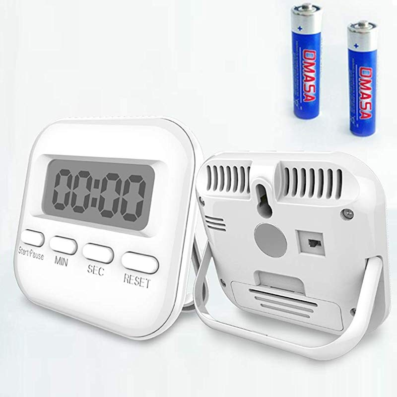 Digital Kitchen Timer 2 Pack Mini Portable Loud Alarm Strong Magnetic Back Stand Count Up Countdown Timer For Cooking Baking Sports Games Office Battery Included