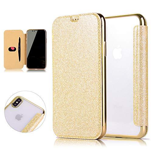 Brillante Purpurina tapa carcasa funda de teléfono para iphone X/XS/XR/XS Max dorado dorado iPhone XR