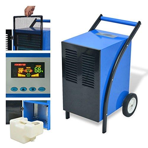 Tuduo - Deshumidificador con sistema de descongelación de gas caliente, 50 l/24 h, 860 W, deshumidificador profesional Airmatic