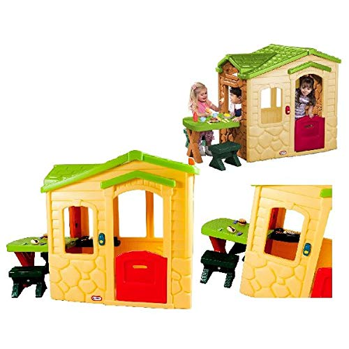 little tikes Playhouse - Natural Casa de Juegos de Suelo - Casas de Juguete...