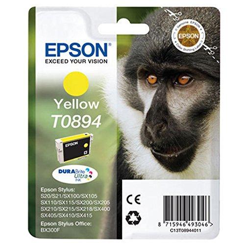 Epson T0894 Affe, wisch- und wasserfeste Tinte (Singlepack) gelb