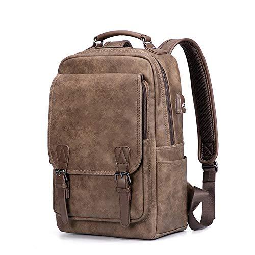 Mochila Antirrobo Impermeable,Mochila Portatil 15.6 Pulgadas Mochila Hombre con Puerto de Carga USB,Mochila Backpack para el Laptop para Ordenador del Negocio Trabajo Diario Viaje ( Color : Brown )