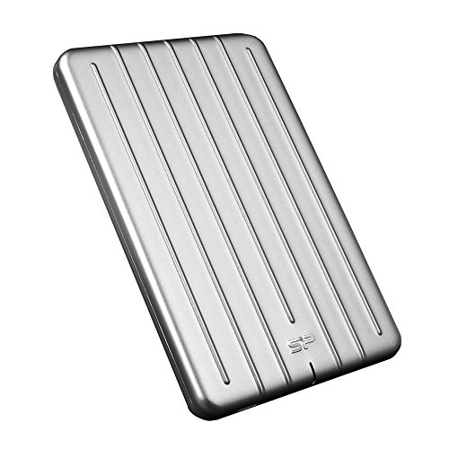 """Silicon Power 2TB Ultra Slim Armor A75 Shockproof/Anti-Scratch USB 3.0 (USB 3.1 Gen 1) 2.5"""" Portable External Hard Drive for for PC, Mac, Xbox, PS4 and PS5 -Aluminum"""
