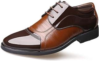 Zapatos Oxfords clásicos con Punta Puntiaguda para Hombres Zapatos Casuales de Negocios Zapatos de Vestir Derby de Fiesta ...