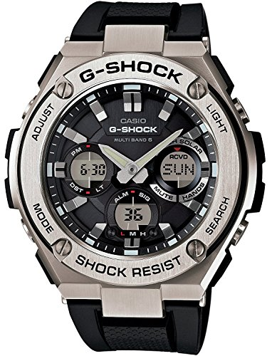 G-SHOCK CASIO メンズ 腕時計 電波ソーラー G-STEEL アナデジ GST-W110-1ADR ブラック×シルバー [並行輸入品]