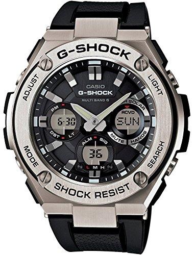 CASIO Armbanduhr G-SHOCK G-STEEL Welt sechs Sender entsprechendes Solarradio GST-W110-1AJF Herren