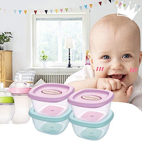 Yunhigh-uk Juego de recipientes de Alimentos para bebés, congelador de...