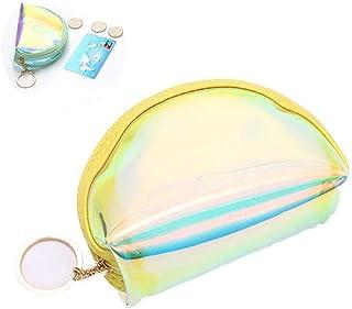 Mini Coin Purse Trasparenza Zipper Portachiavi Portafoglio Pouch luminescente della borsa della moneta per le ragazze acce...