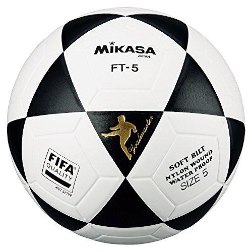 MIKASA FT5 Balón de fútbol, Unisex, Blanco Negro, 5