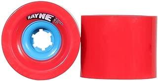 Rayne Lust 70mm, 75mm, 77A, 80A Square-Lipped Center-Set Urethane Longboard Skateboard Wheels