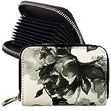 GISELLE カードケース スキミング防止 レディース メンズ クレジットカード 名刺入れ 大容量 じゃばら 薄い 磁気防止 コンパクト RFID 花柄 ボタニカル フラワー (花柄モノトーン)