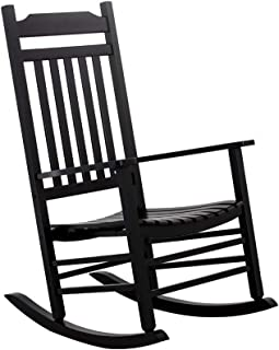outdoor rocking chair black