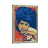 BGRGU Aretha Franklin Rock-Poster, Vintage-Musik-Poster,