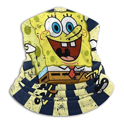 JACOBY Spongebob Squarepants Retro Japanese Warmer Schal Schlauchschal Bandana Stirnband for Men Women Sun UV Wind Dust Protection Skiing Riding Running