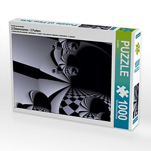 CALVENDO Puzzle 3 Dimensionen - 2 Farben 1000 Teile Lege-Größe 64 x 48 cm Foto-Puzzle Bild von ISSA Bild