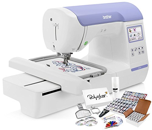 Brother PE800 Embroidery Machine + Grand Slam Package Includes 64...