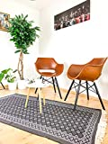 SOLTAKO Kelim Teppich mit Fransen, waschbar, Mehrfarbig, 100% vegan, Vintage, bunter Läufer, orientalischer Berber Chindi Teppich, Ethno Muster, grau/weiß, 100 x 200 cm